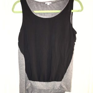 ♦️Gray and black tank top size small